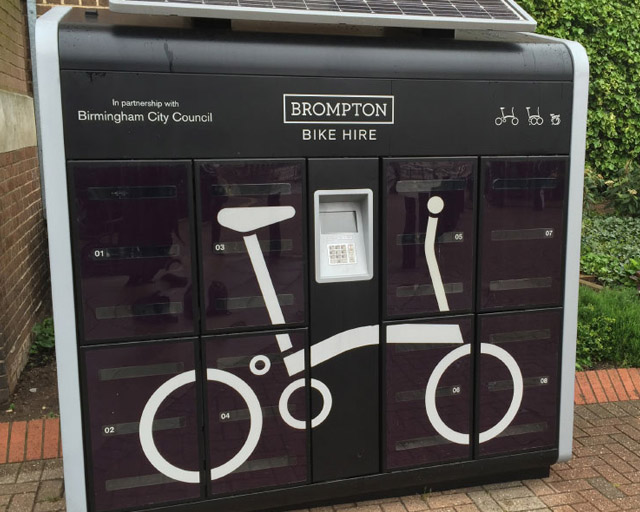 Rent a brompton scheme, bike storage